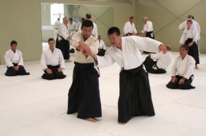 Seki Shihan teaching at the Auckland Gasshuku.